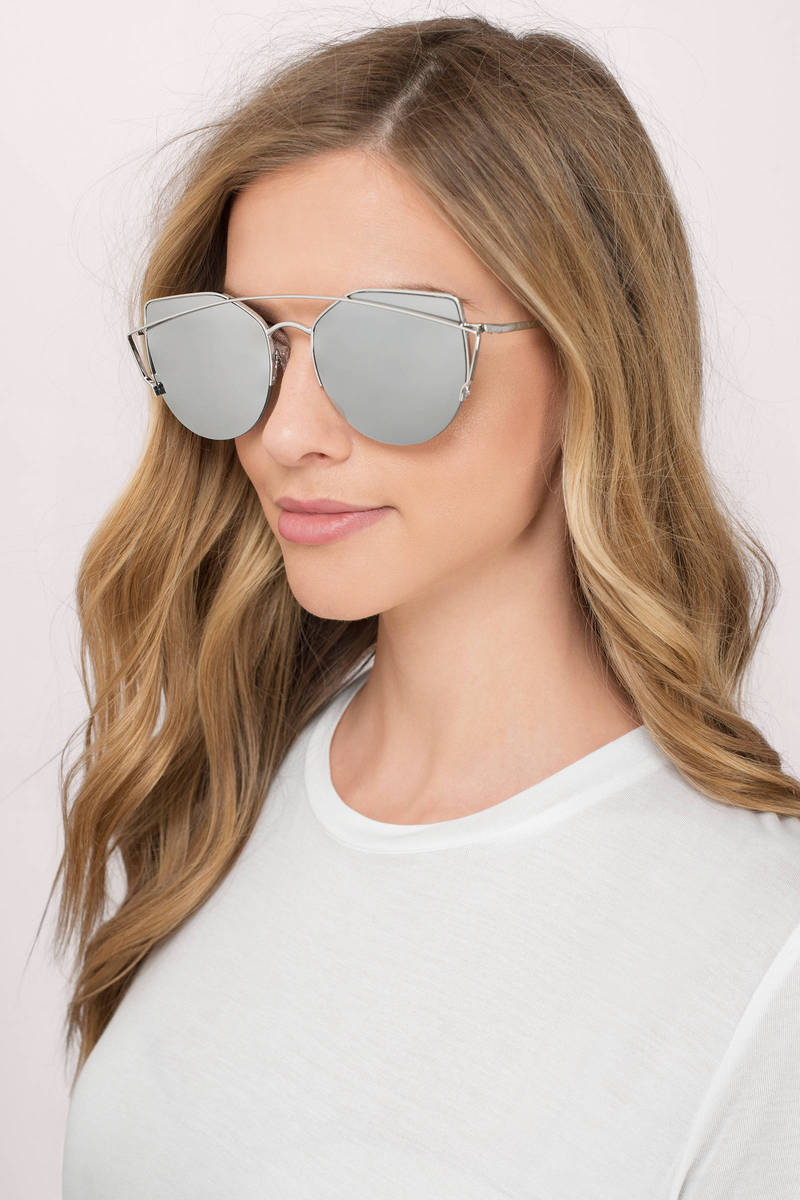 Grey Mirrored Sunglasses - Aviators - Silver Mirrored Sunglasses ... 21e65be6da5