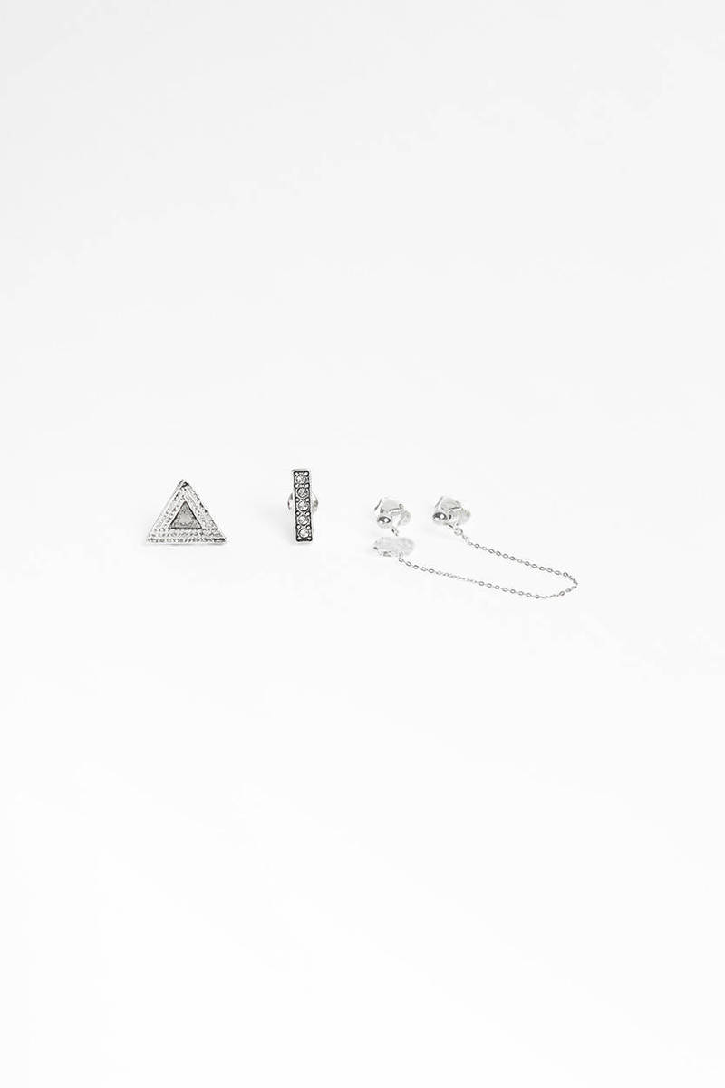 Vanessa Mooney Vanessa Mooney Zeppelin Silver Earring Set