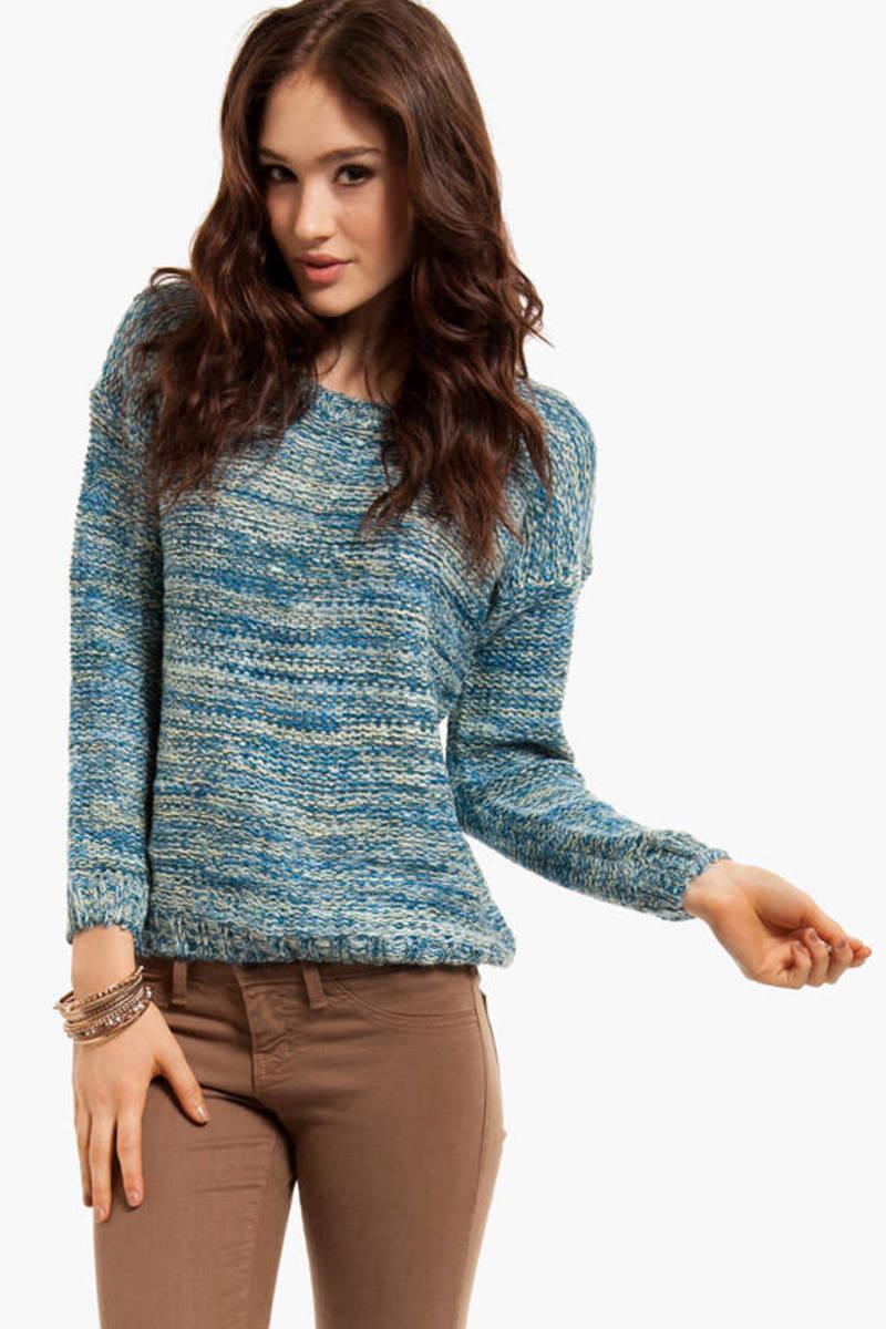 True Blue Marled Sweater