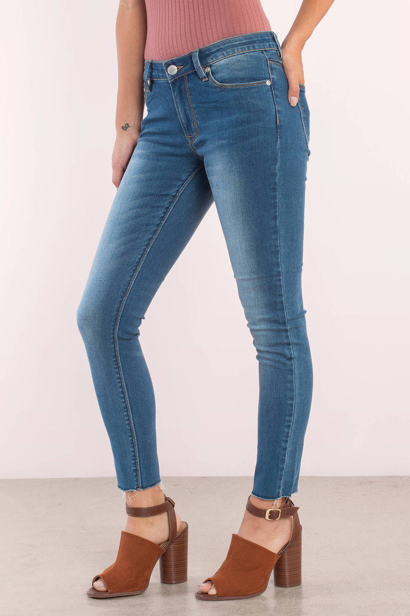 RES Denim Trash Queen Sky Skinny Cropped Jeans