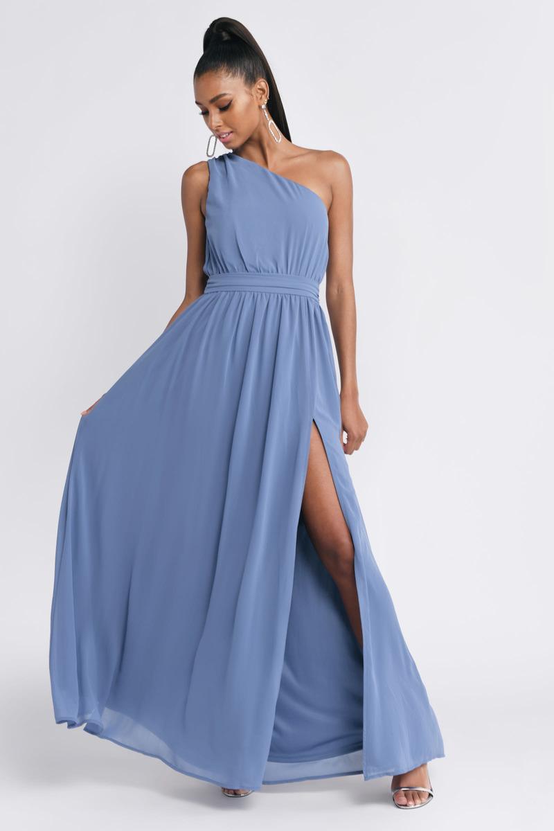 45b6eb0e4c7 Keri Slate One Shoulder Maxi Dress -  43
