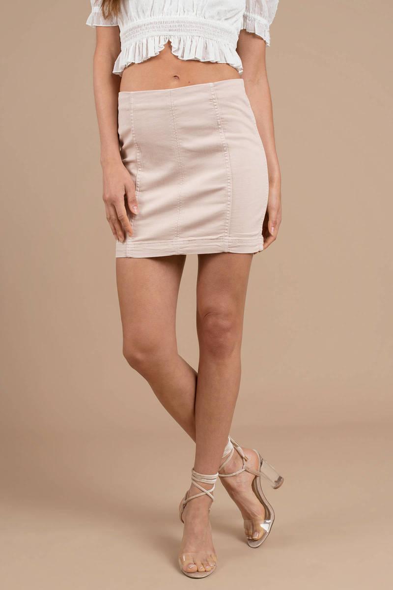 719e8ca42c2 Free People Free People Modern Femme Stone Denim Skirt