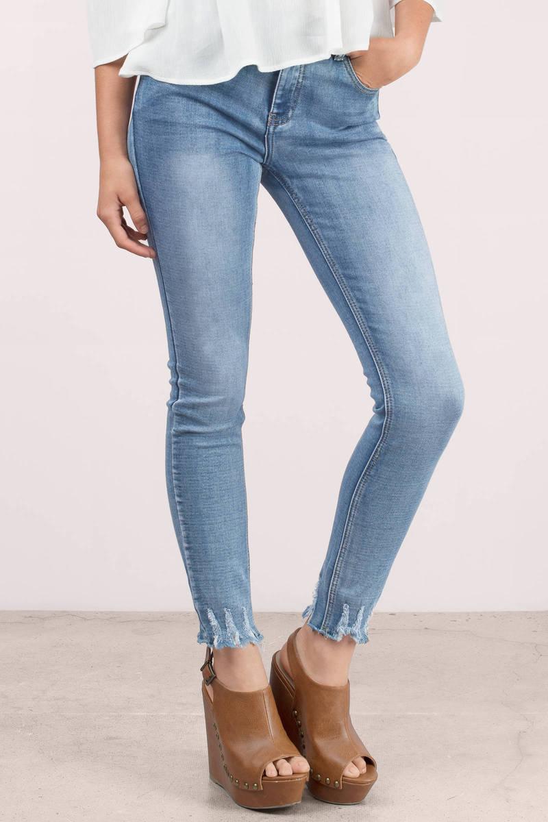 Glamorous Glamorous Juliet Stone Wash Skinny Jeans
