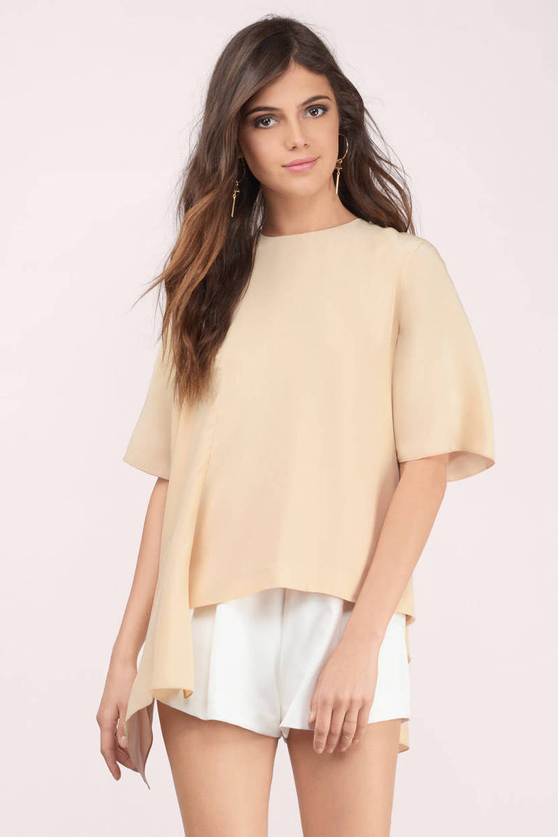 Cameo Cameo Disposition Tan Silk Top