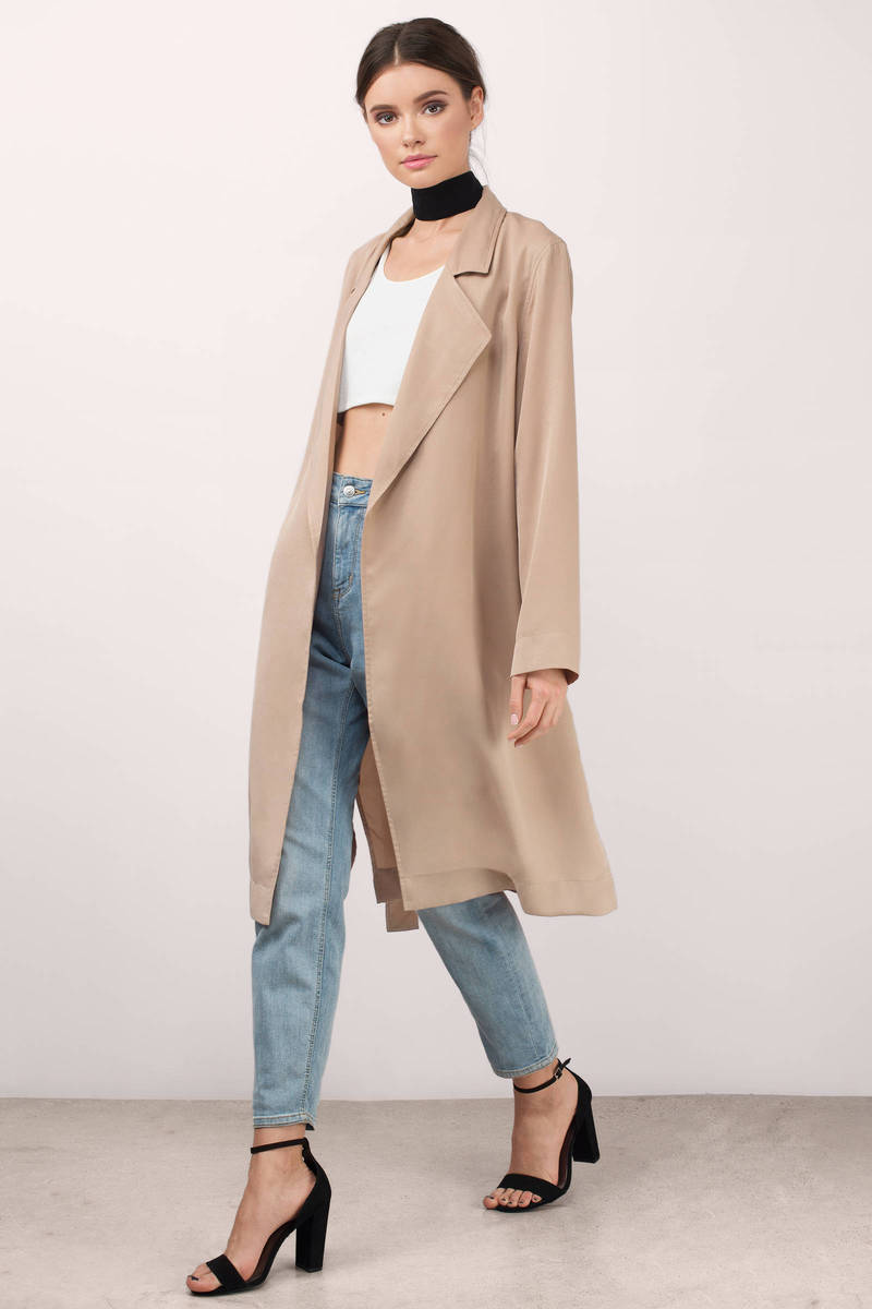 Lucca Couture Lucca Couture Lily Tan Trench Coat