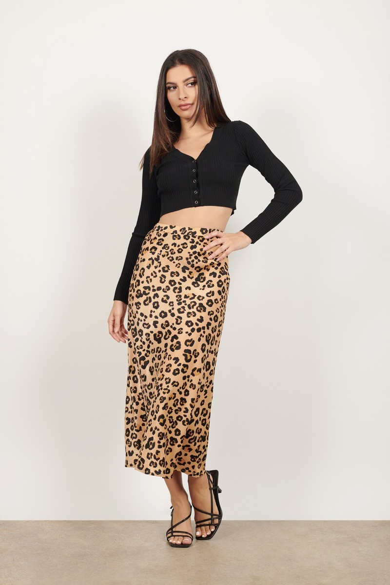 In Nature Leopard Midi Skirt