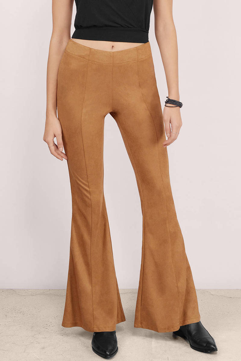 Sahara Tan Faux Suede Pants