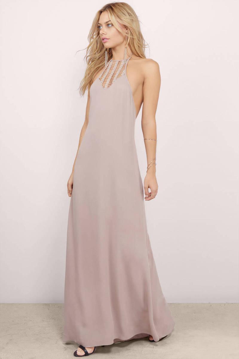 Cheap taupe maxi dress open back dress maxi dress tobi breezy feeling taupe maxi dress ombrellifo Image collections