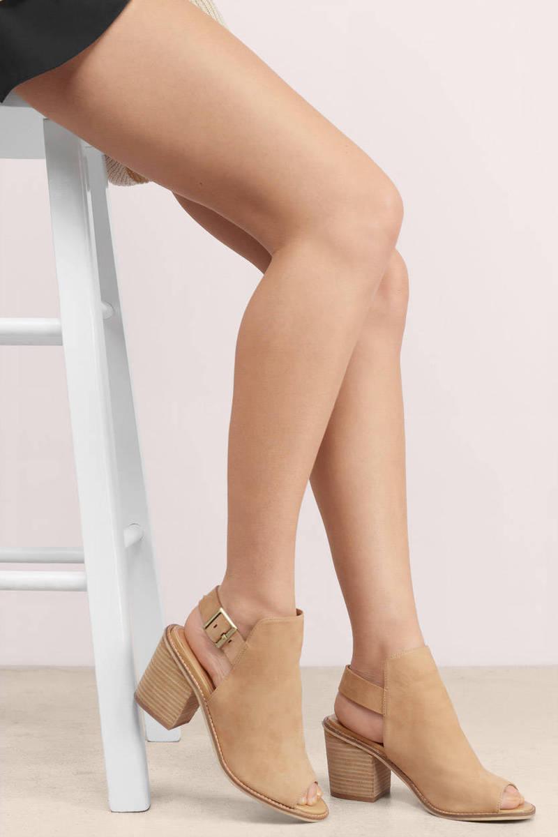 Taupe Heels Suede Heels Booties Heels Leather Heels