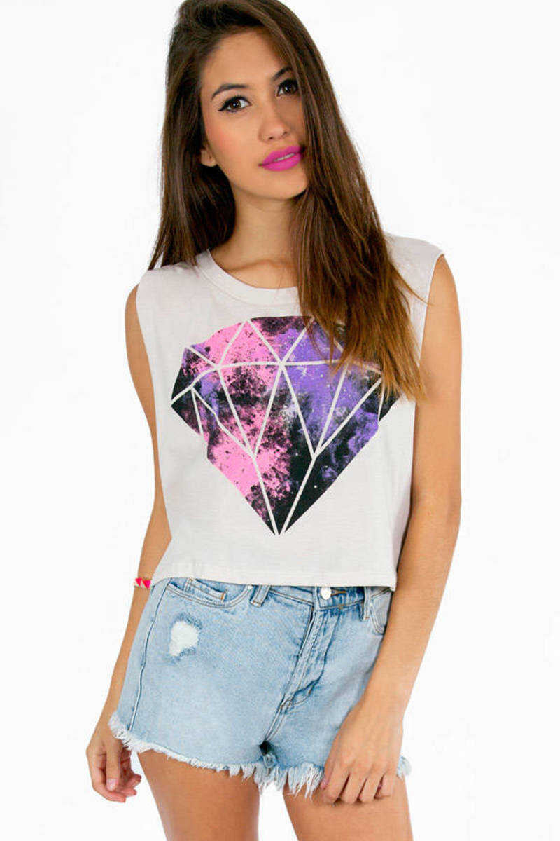 Diamonds in the Sky Crop Top