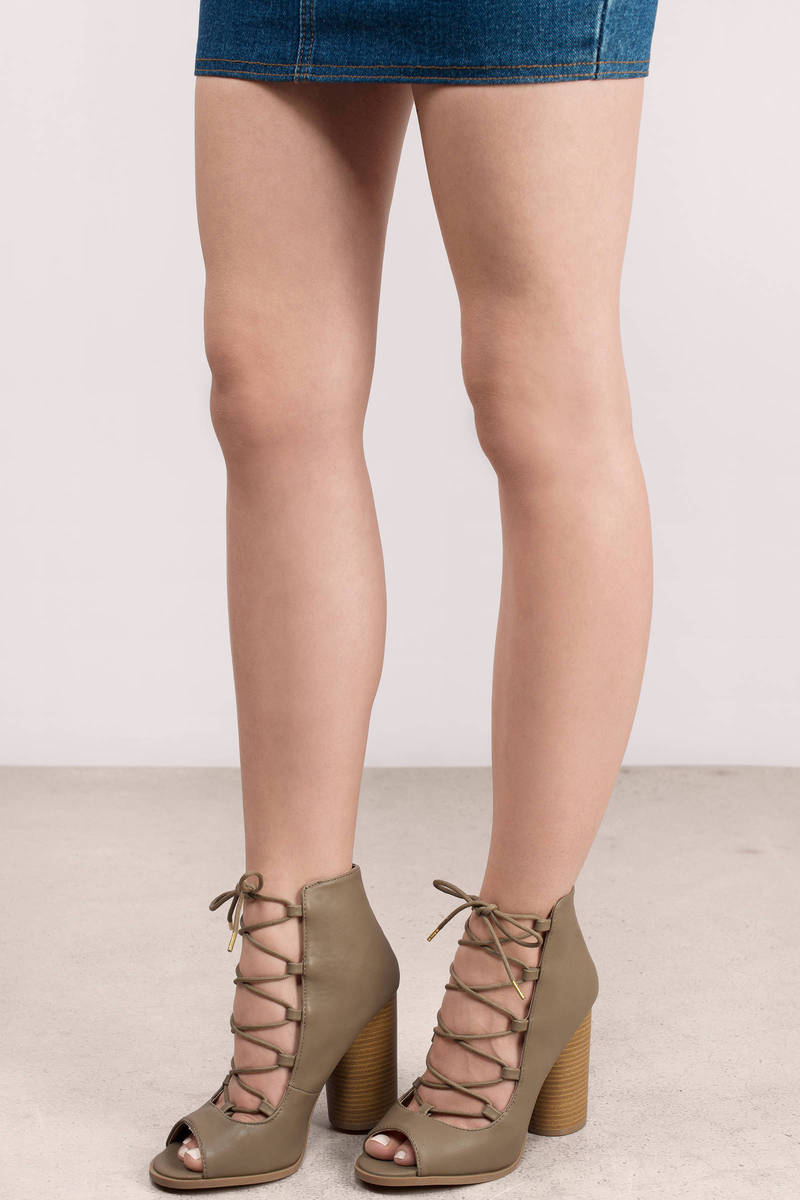 Hold On Taupe Heels