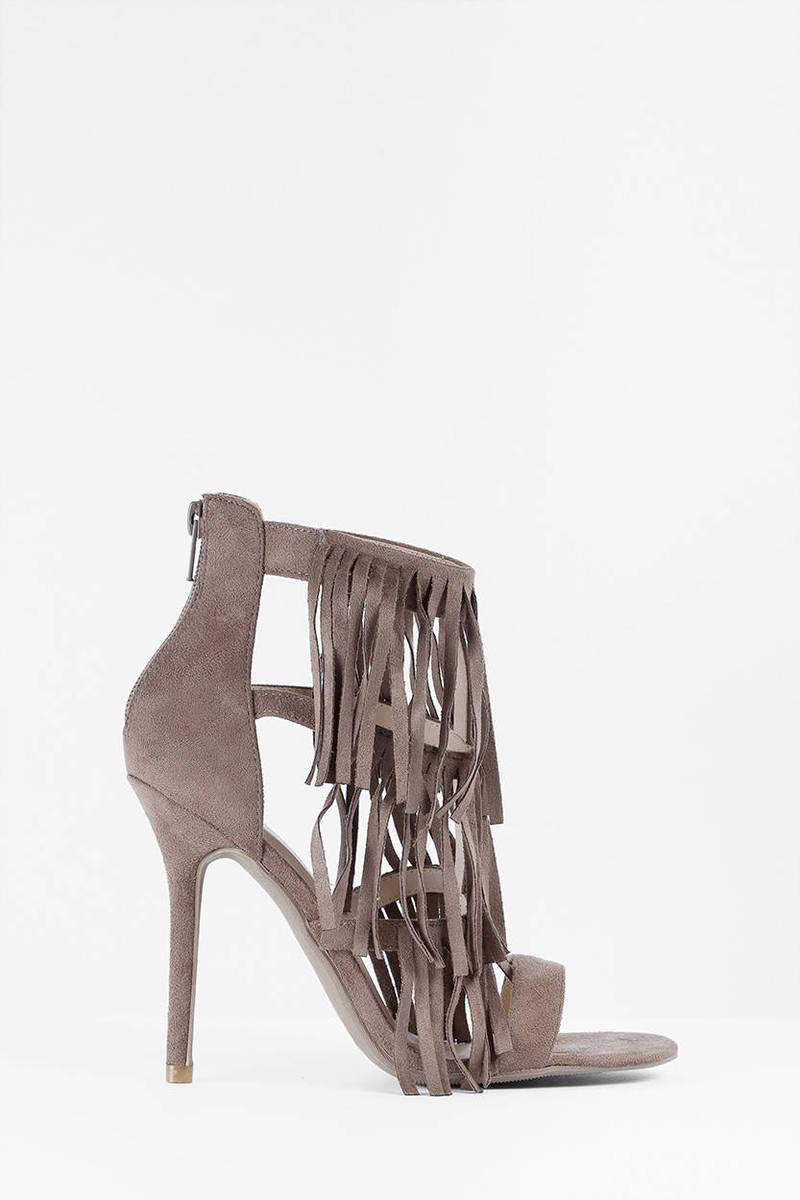Lianna Taupe Stiletto Heels