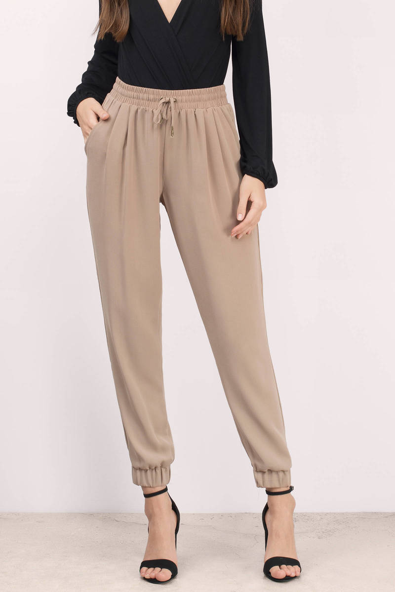 Liz Taupe Joggers