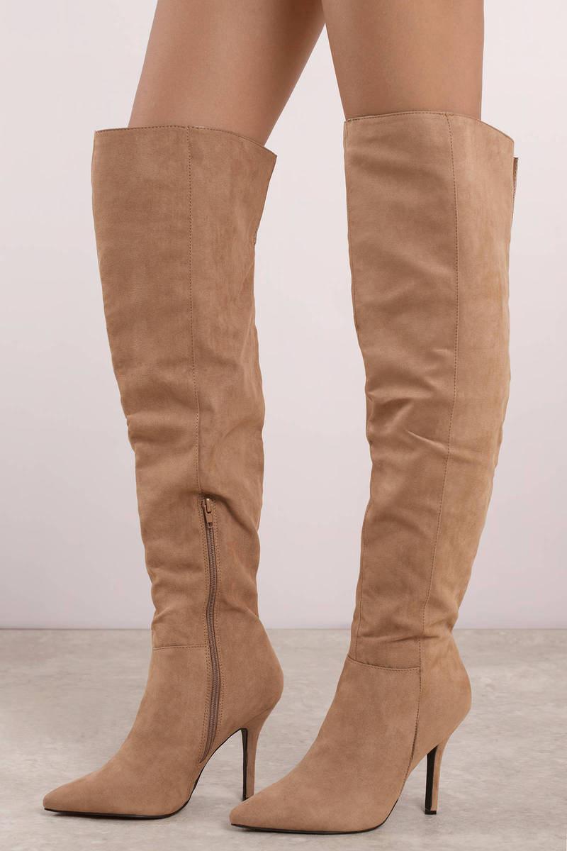 Chic Brown Boots Brunch Boots Brown Knee High Wide