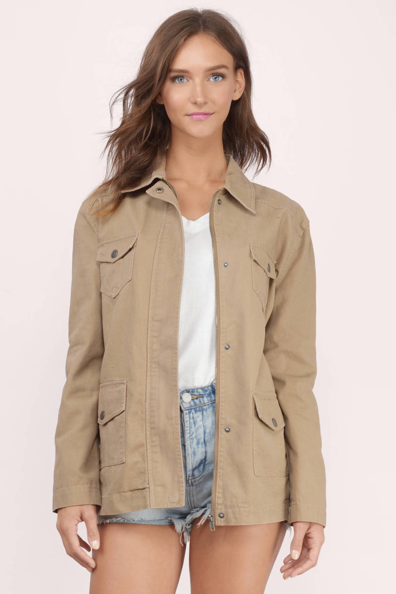 Quinn Taupe Cargo Jacket