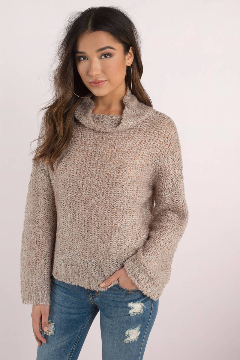 September Song Taupe Knit Sweater
