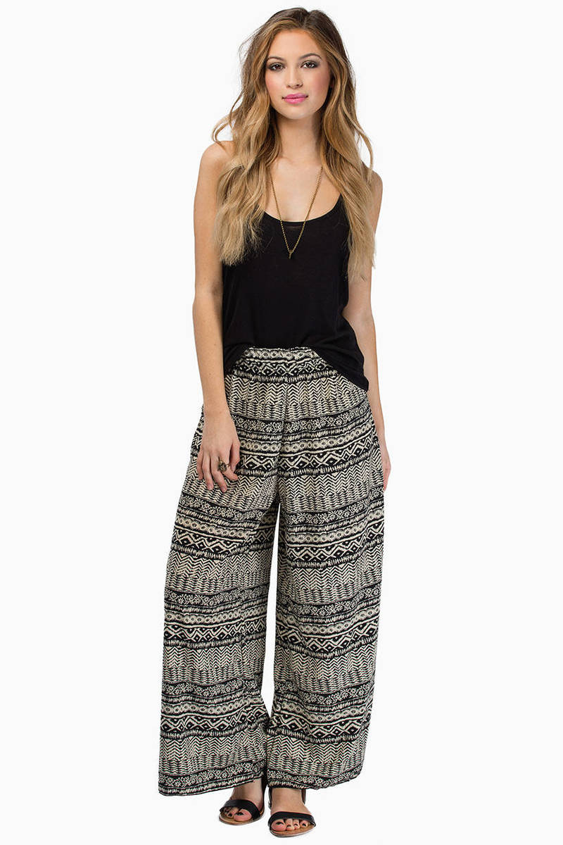 The Grand Taupe Palazzo Pants