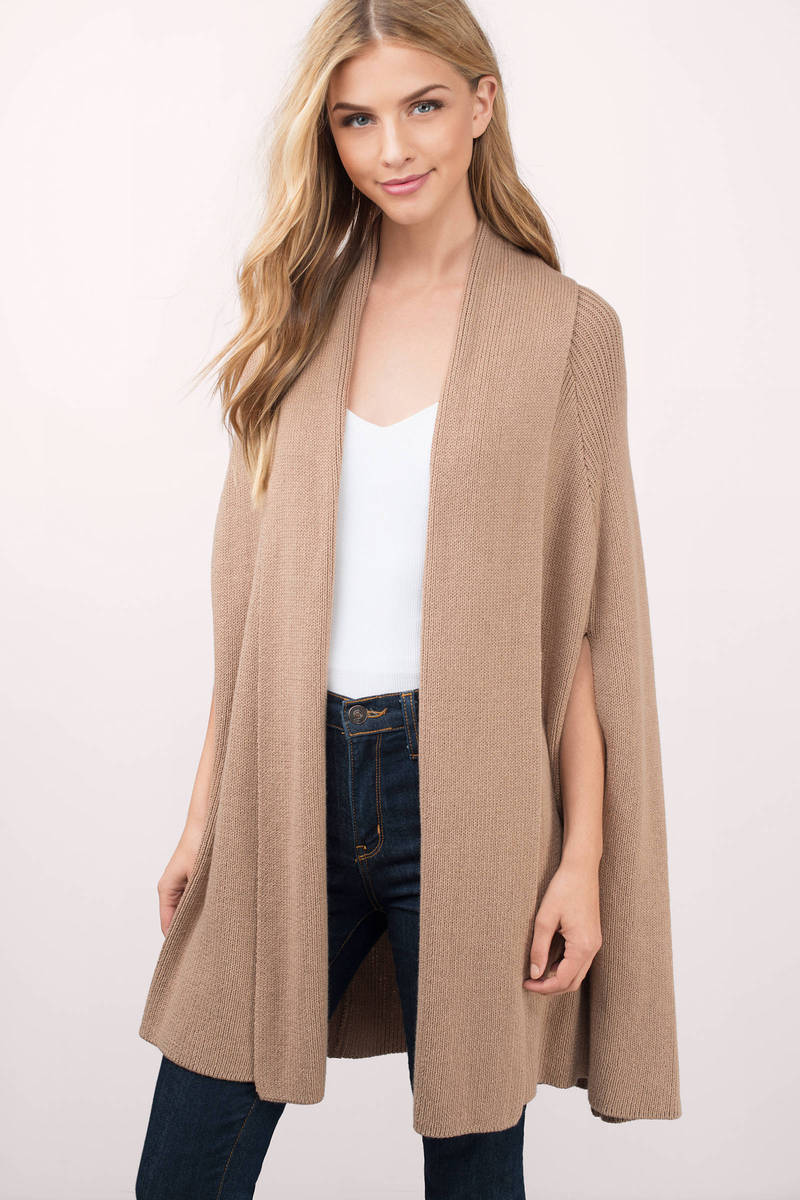 Cardigans And Necklaces: Cheap Taupe Cardigan