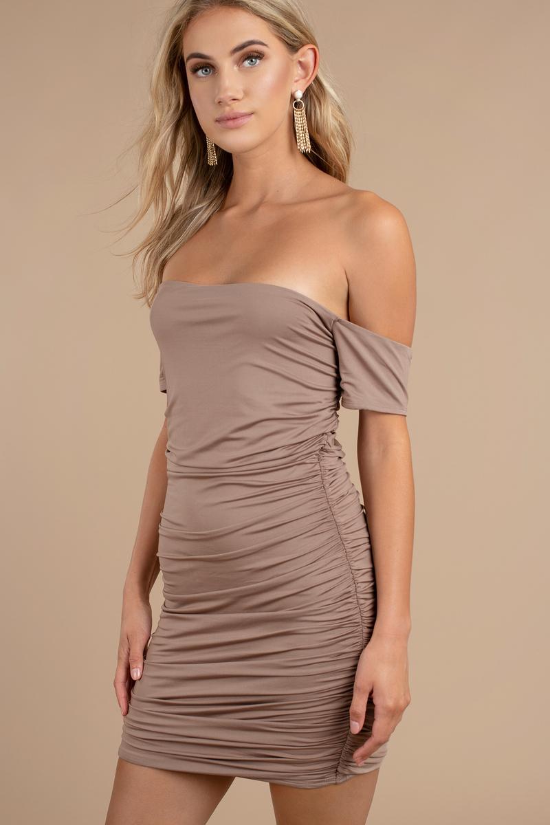 Trina Taupe Bodycon Dress