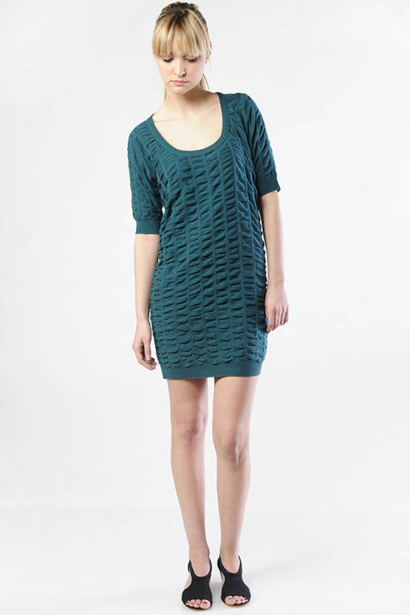f999a37eb Green Shift Dress - Half Sleeve Dress - Green Work Dress -  85