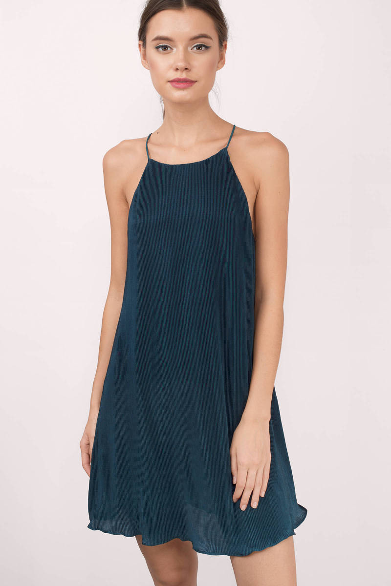Marilee Teal Shift Dress