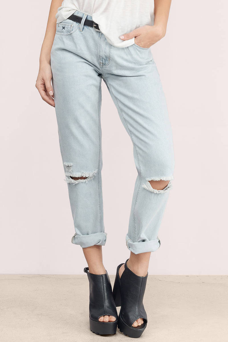 RES Denim Res Denim Romeo Teen Spirit Distressed Boyfriend Jeans