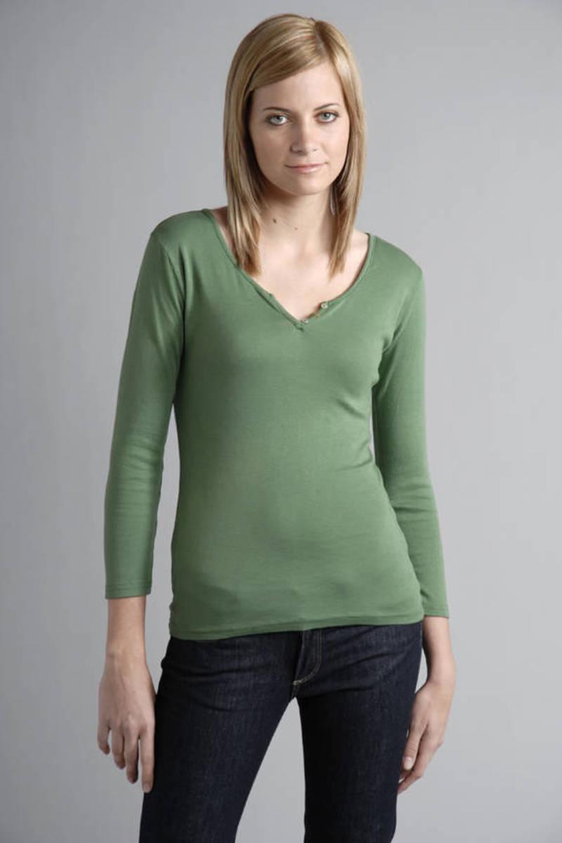 4839c61c Green Michael Stars Tee - Button Up Henley - Green Lounge T Shirt ...