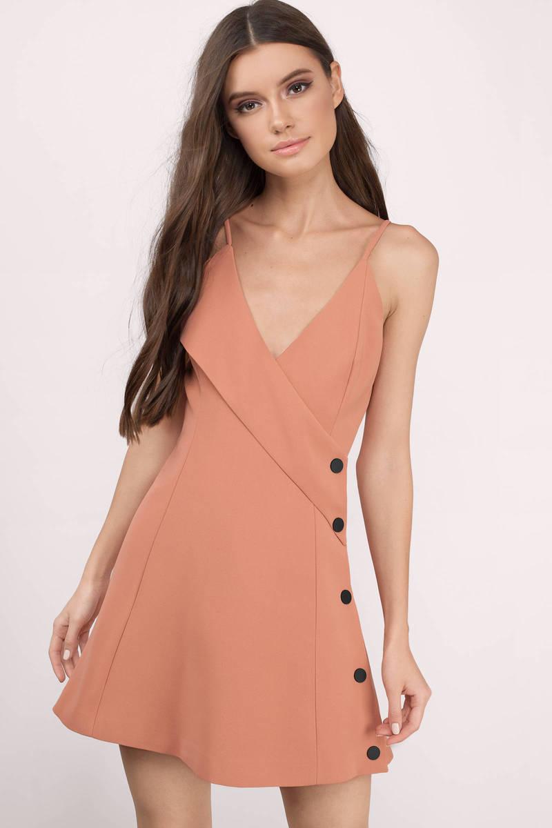 Cameo Cameo Dream Space Terracotta Skater Dress