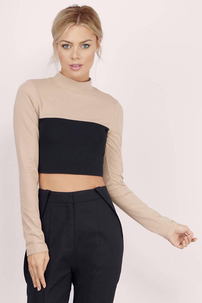Adelaide White & Black Crop Top