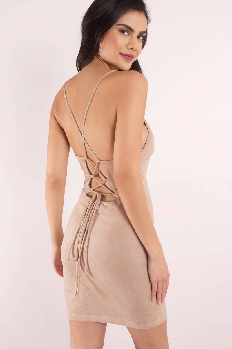 8eed1bcda1 Cute Toast Bodycon Dress - Lace Up Dress - Bodycon Dress -  15