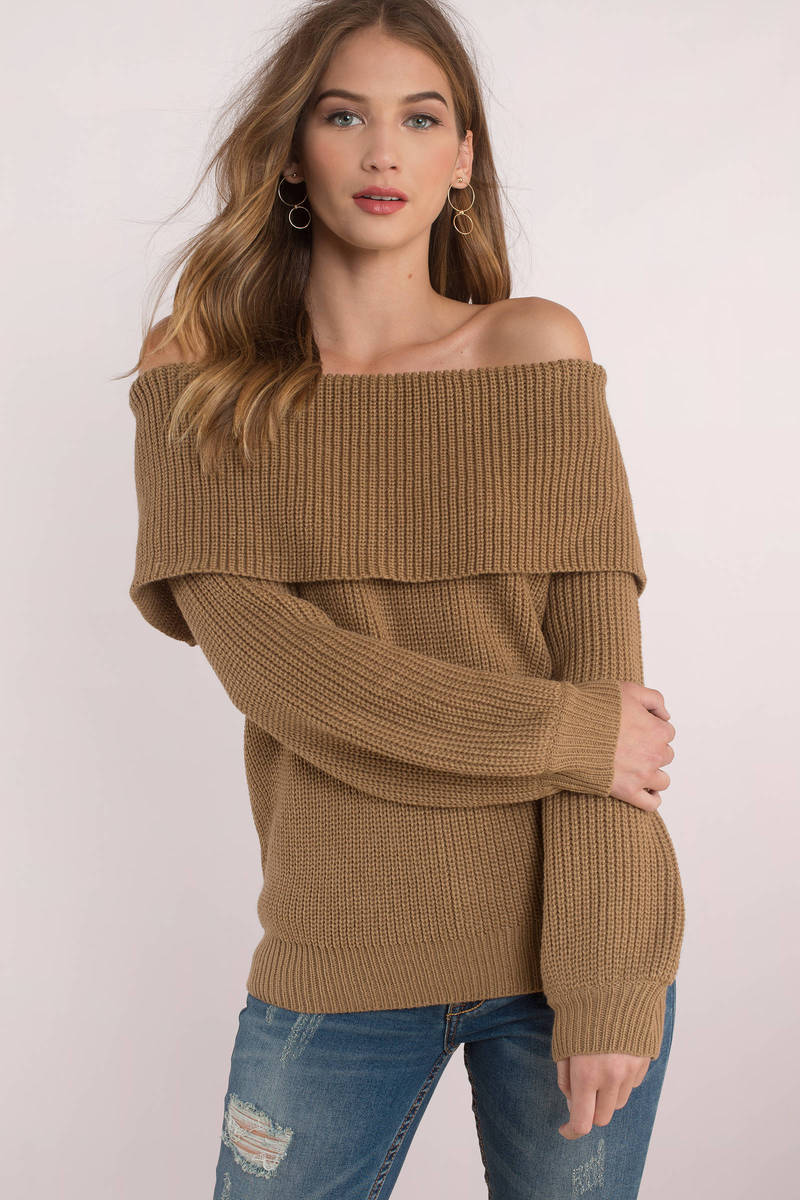 Off The Hook Toast Off Shoulder Sweater