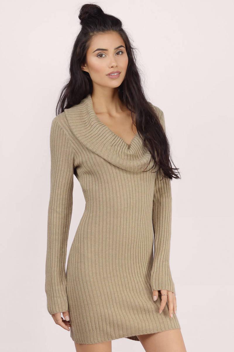 6d3fce8085 Cute Toast Bodycon Dress - Cowl Neck Dress - Day Dress -  15