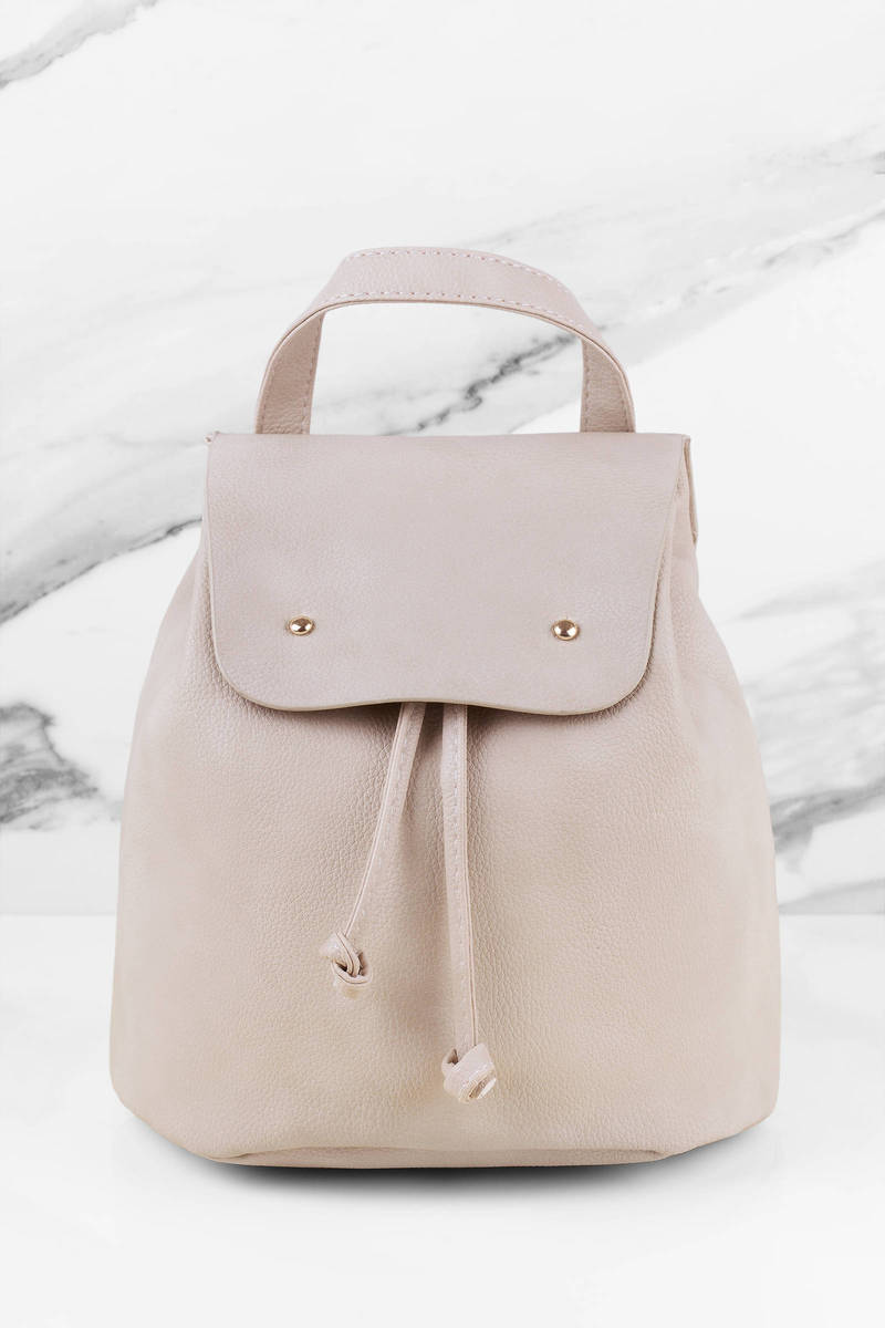 She Said Toast Faux Leather Bucket Backpack