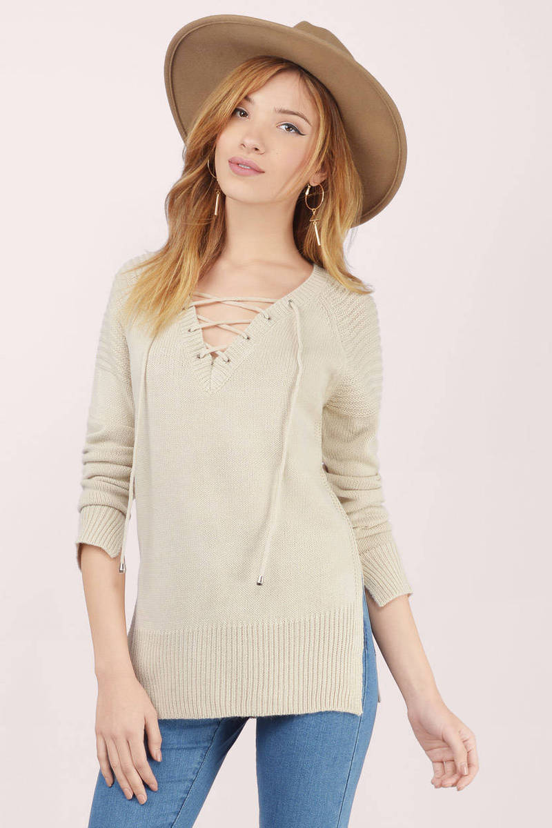 Warm As Toast Laced Up Sweater