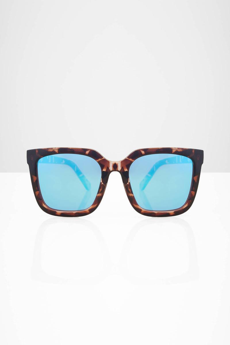 QUAY Quay Gensis Tortoise & Blue Mirror Sunglasses