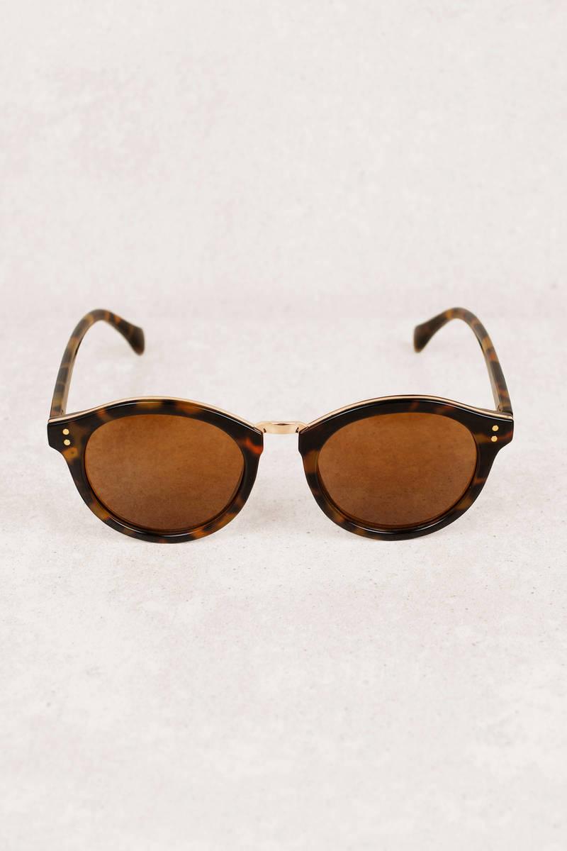 cb980e623e2 Brown Sunglasses - Tortoise Shell Sunglasses - Brown Round ...