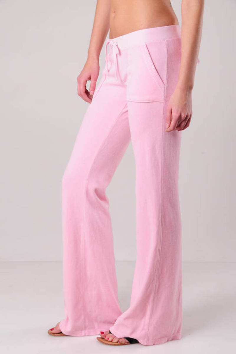 Pink Juicy Couture Pants Low Pants Pink Comfortable Pants Tobi