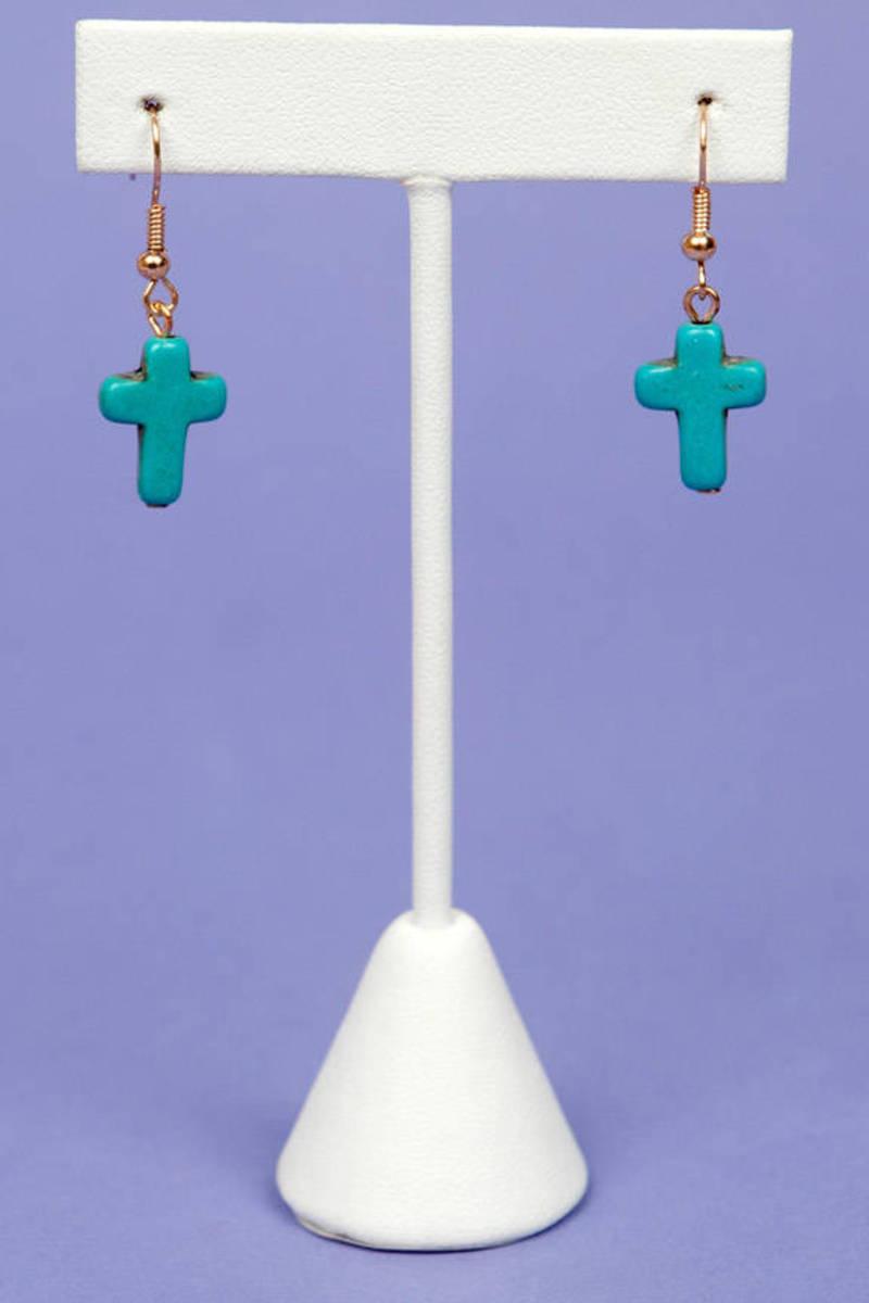Hard Cross Earrings