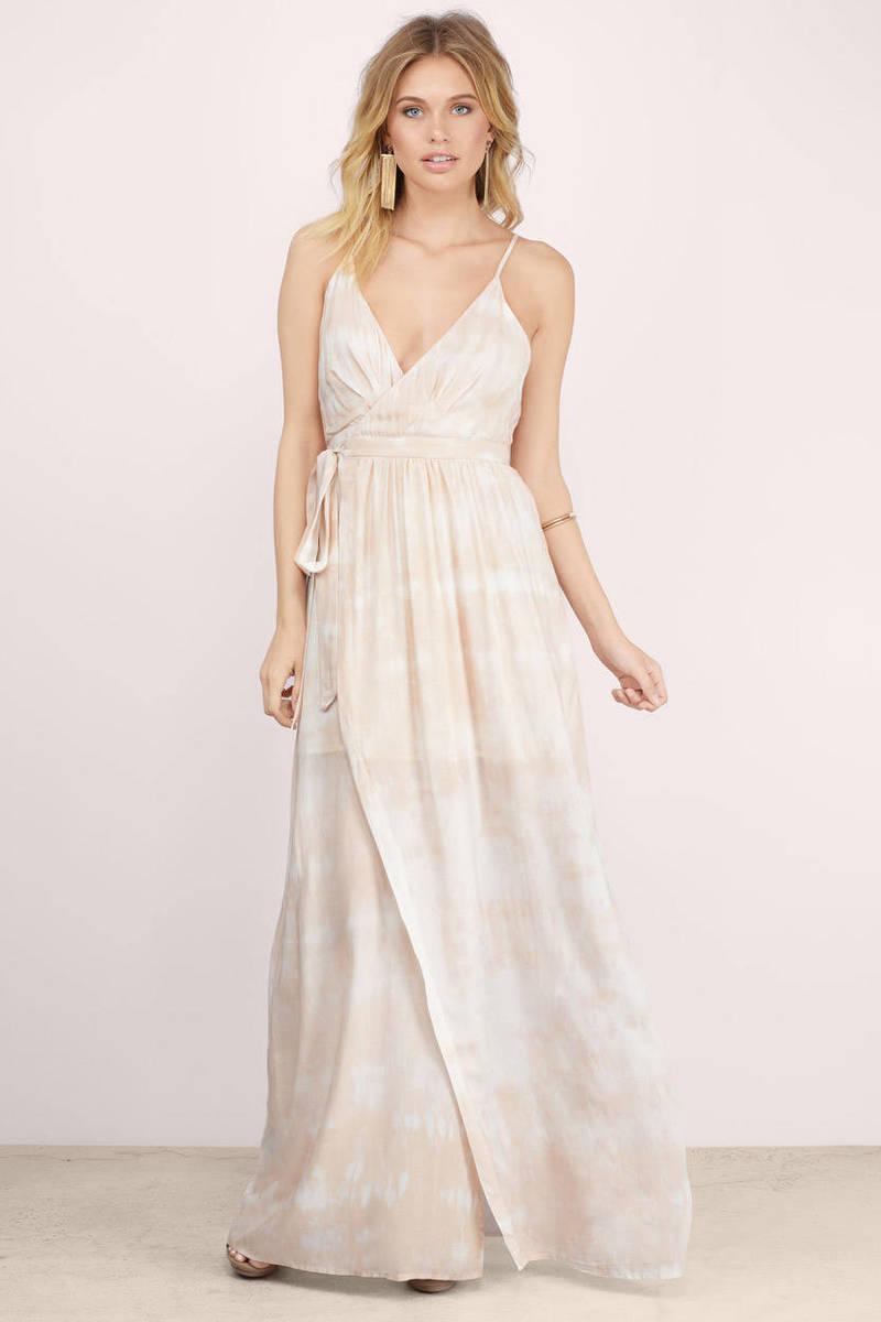 Cute Uluwatu Tie Dye Maxi Dress - Nude Dress - Wrap Dress - $84 ...