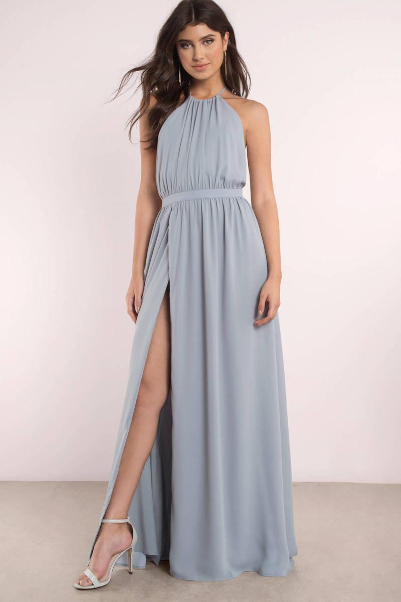 Cute Vintage Blue Dress - Backless Dress - Blue Sleeveless Maxi Dress - $40 | Tobi US