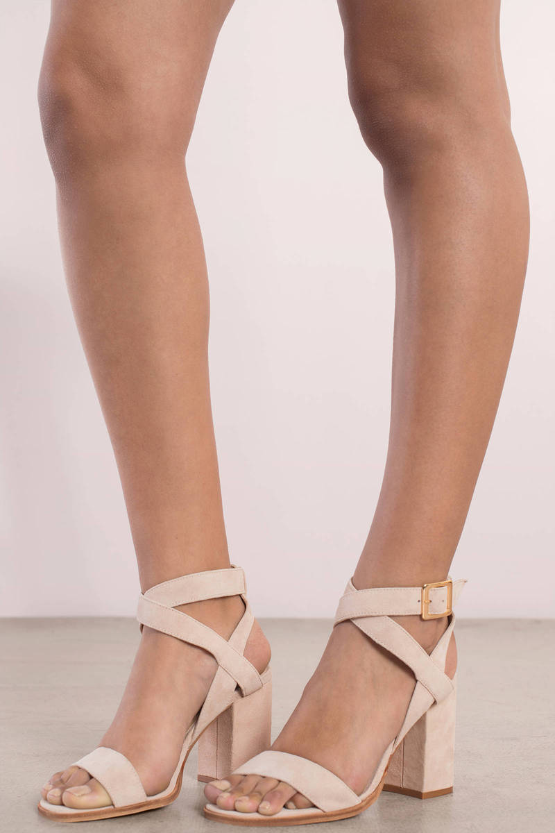 e77c21bf6a Chinese Laundry Chinese Laundry Sitara Vintage Rose Suede Open Toe Ankle  Strap Heels