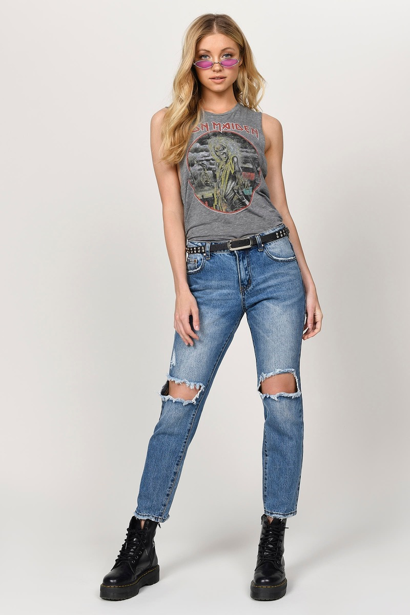 Mulholland Vintage Wash Mid Rise Cropped Jean