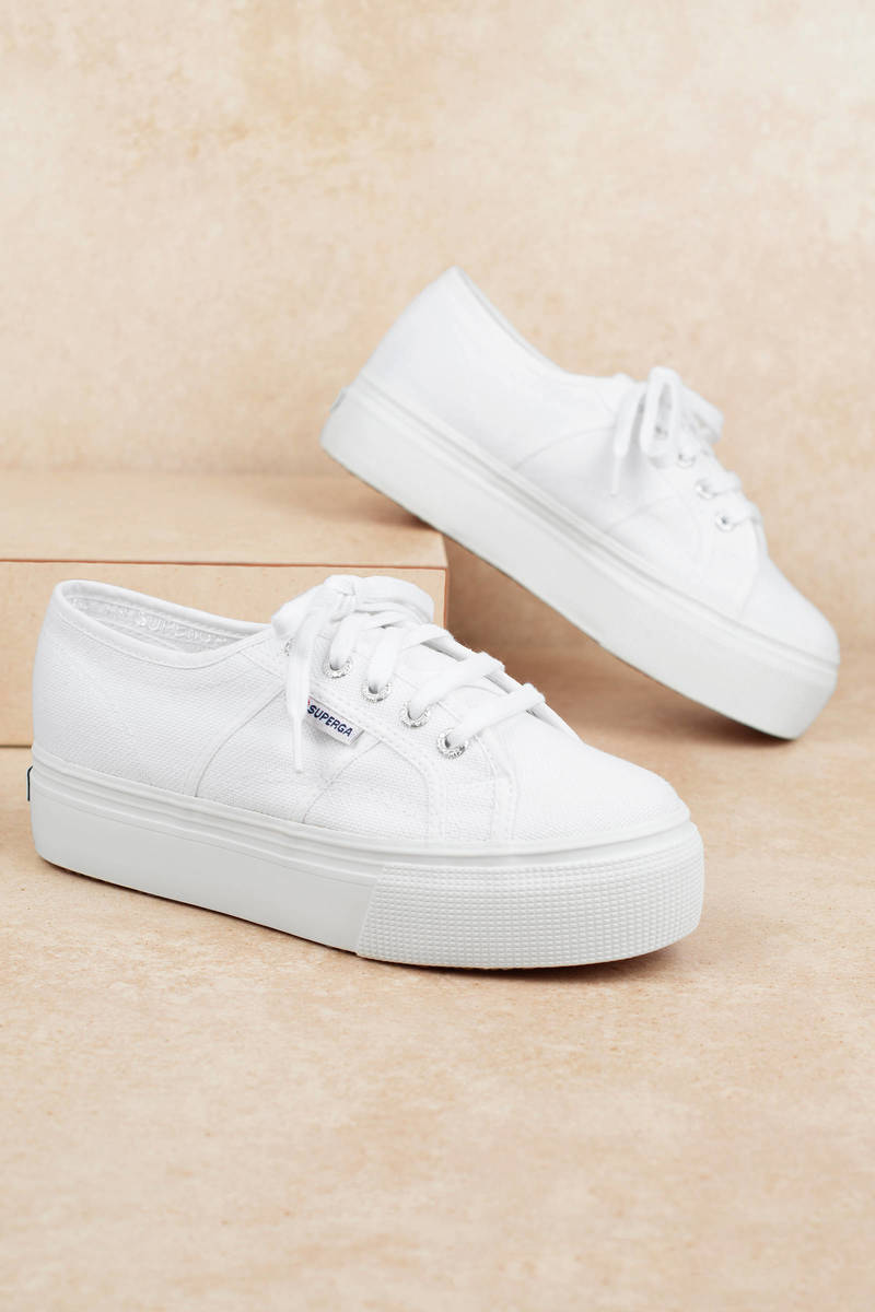 classic style factory outlets detailed pictures White Superga Sneakers - Platform Sneakers - White Classic ...