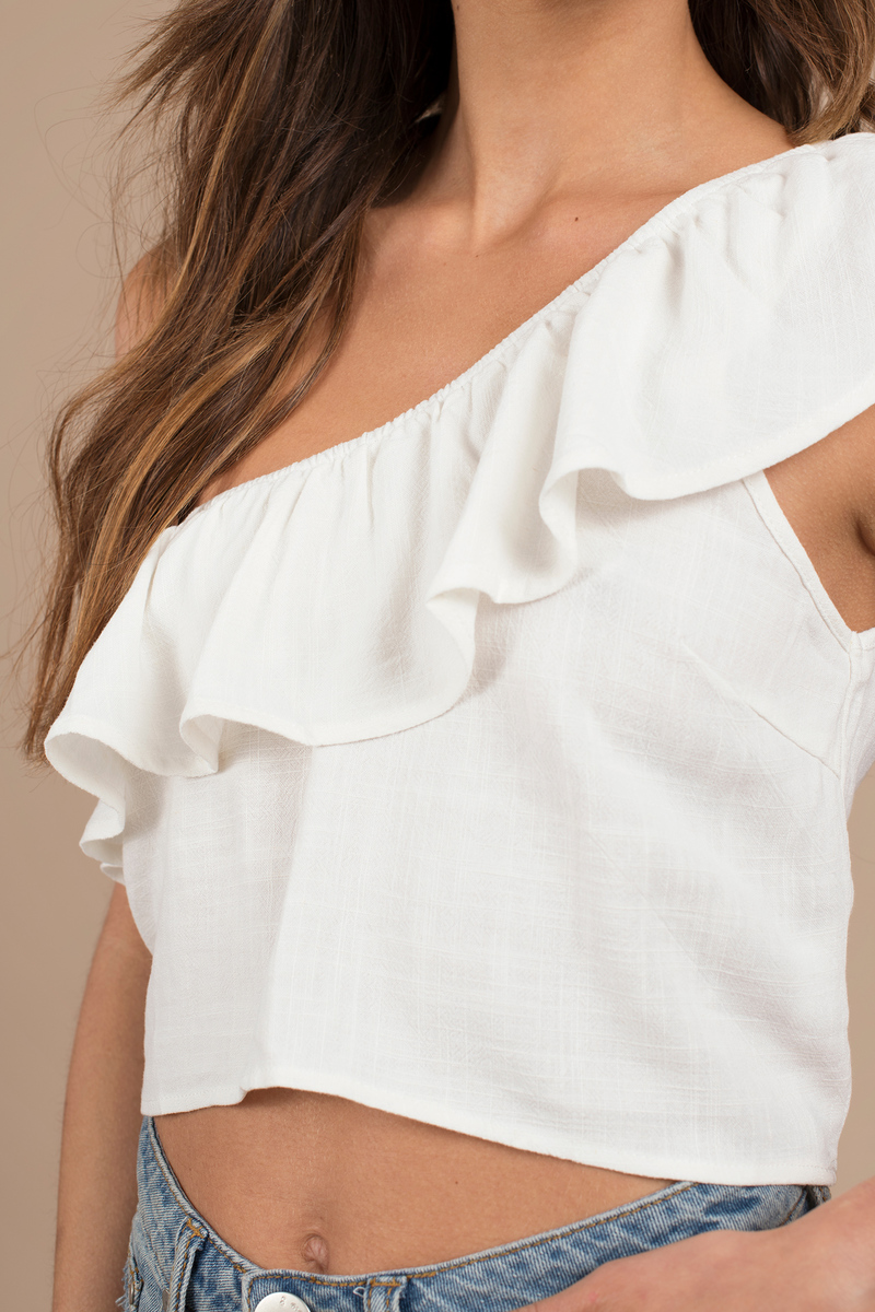 Alice White Crop Top