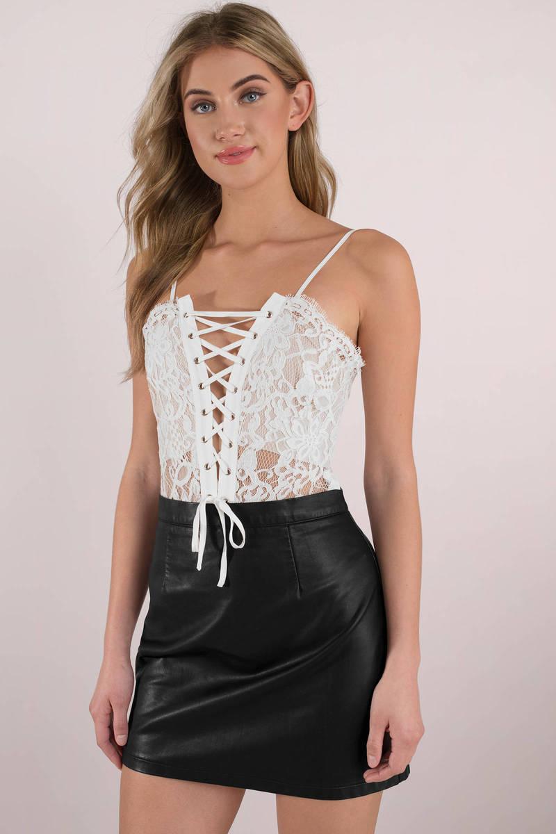 ecea13dd17 Sexy White Bodysuit - White Lace Bodysuit - Corset Bodysuit -  68 ...