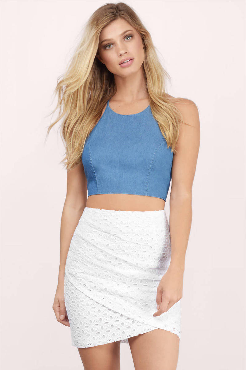 All I Want Is You White Eyelet Mini Skirt