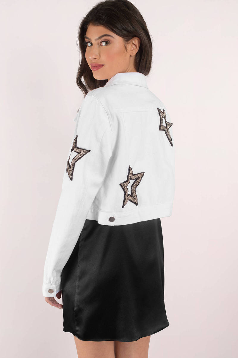 Rehab Clothing Rehab All Star White Denim Jacket