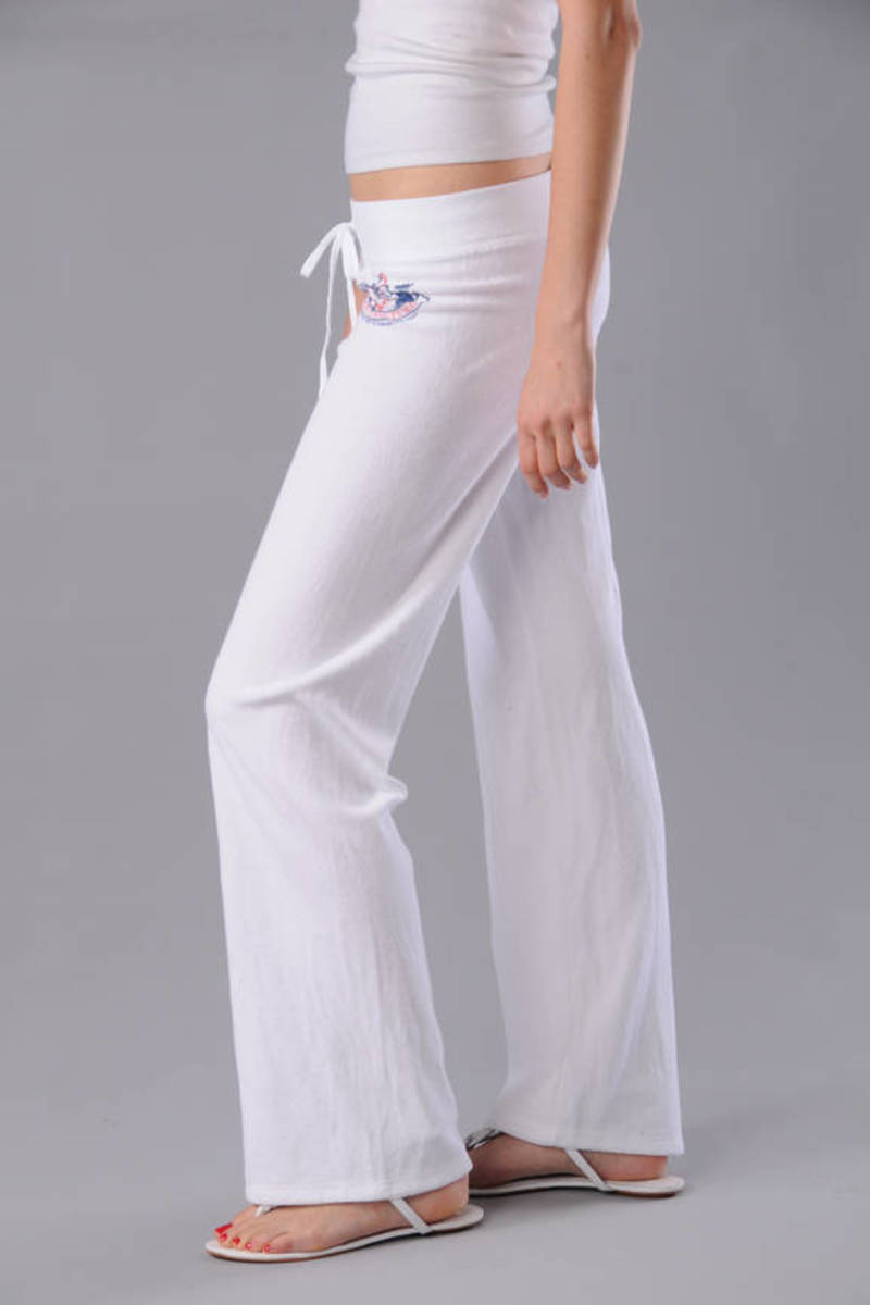 White Juicy Couture Pants - Popular Sweatpants - White Logo ... 1cb7c321280d