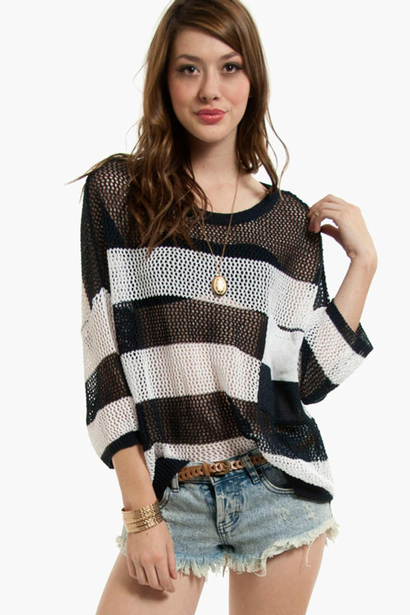 Casey Striped Pocket Sweater