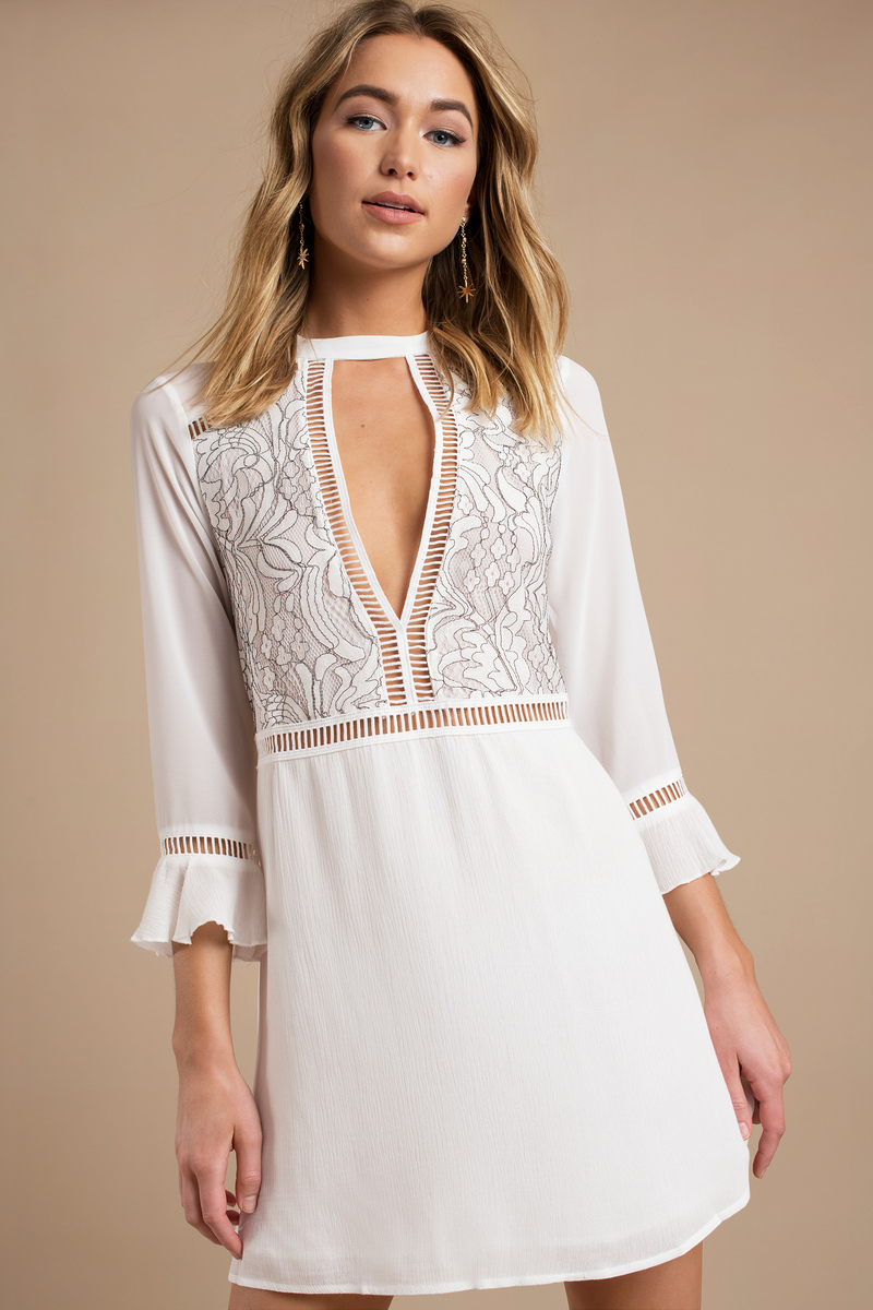 An White Shift Dress